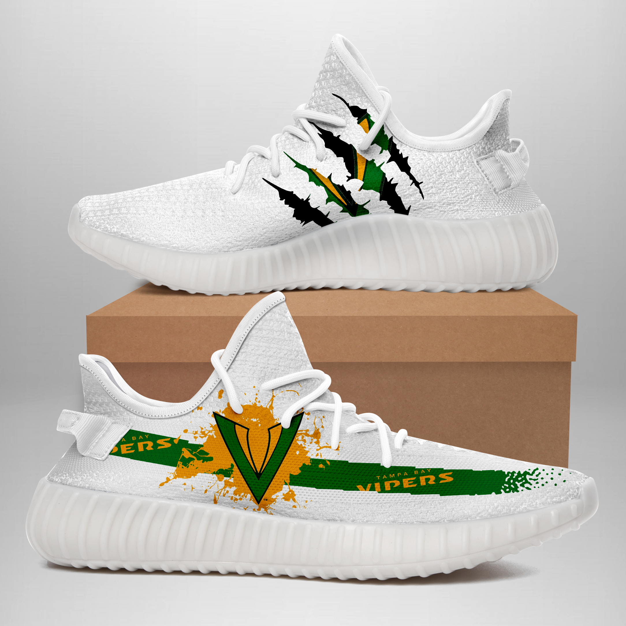 Tampa Bay Vipers XFL Logo Sport Team Yeezy Boost 350 V2 Mens Womens Size US5-13