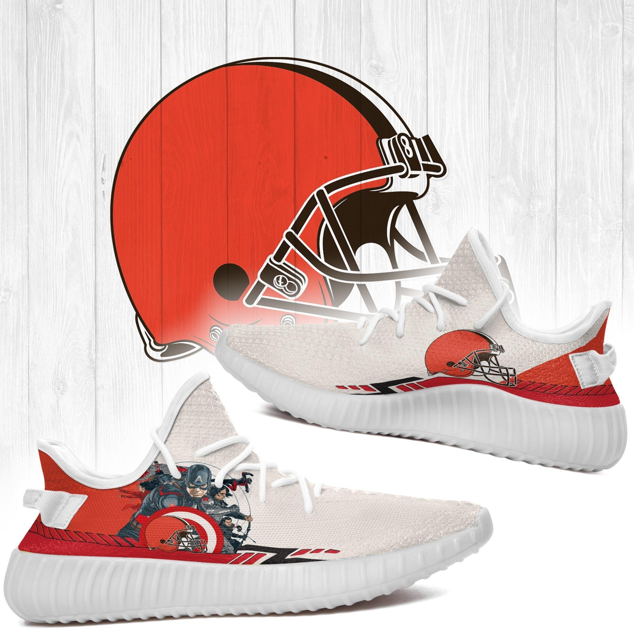Superheroes-Cleveland Browns NFL Yeezy Boost 350 v2 Shoes Custom Yeezys Trends 2020