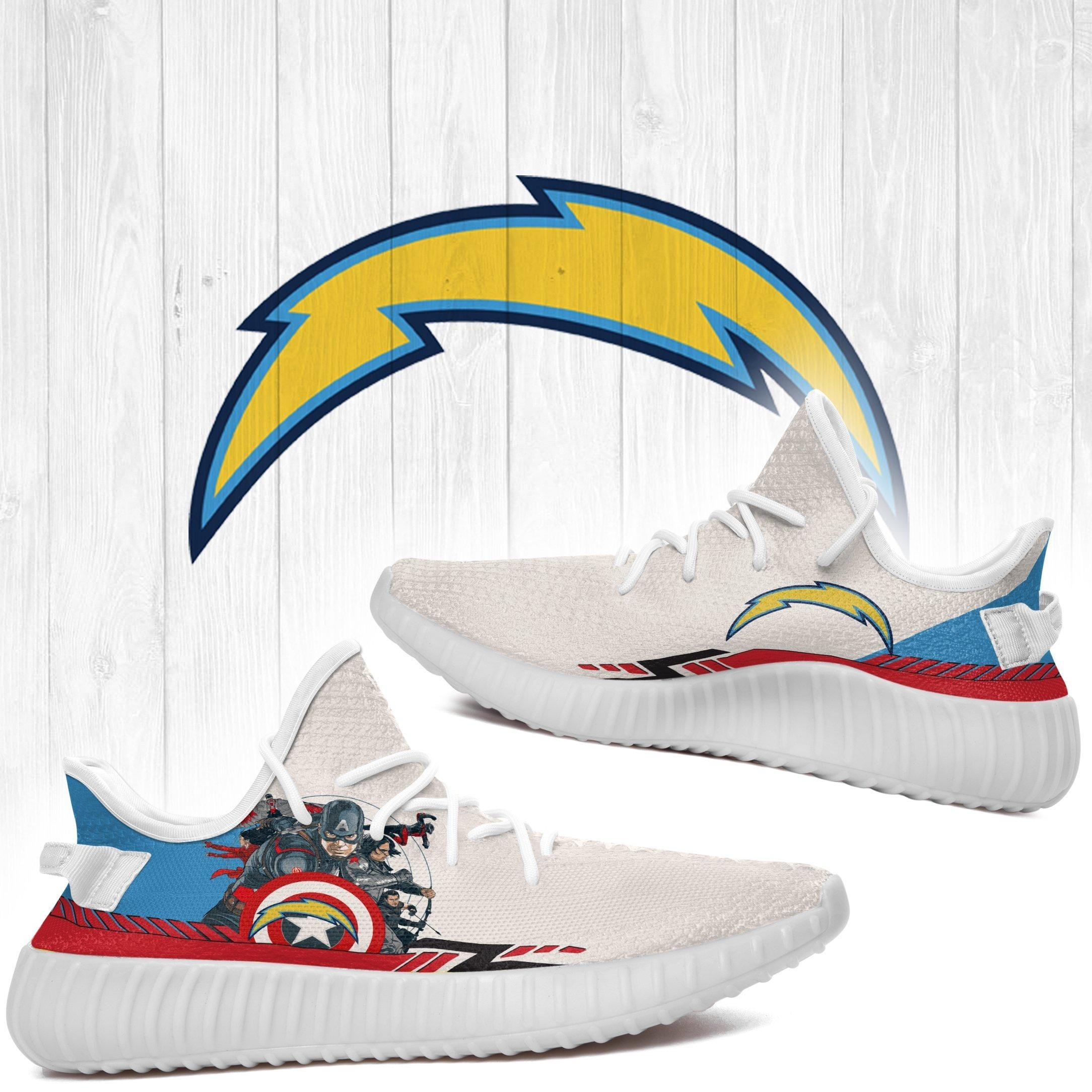 Superheroes-Los Angeles Chargers NFL Yeezy Boost 350 v2 Shoes Custom Yeezys Trends 2020