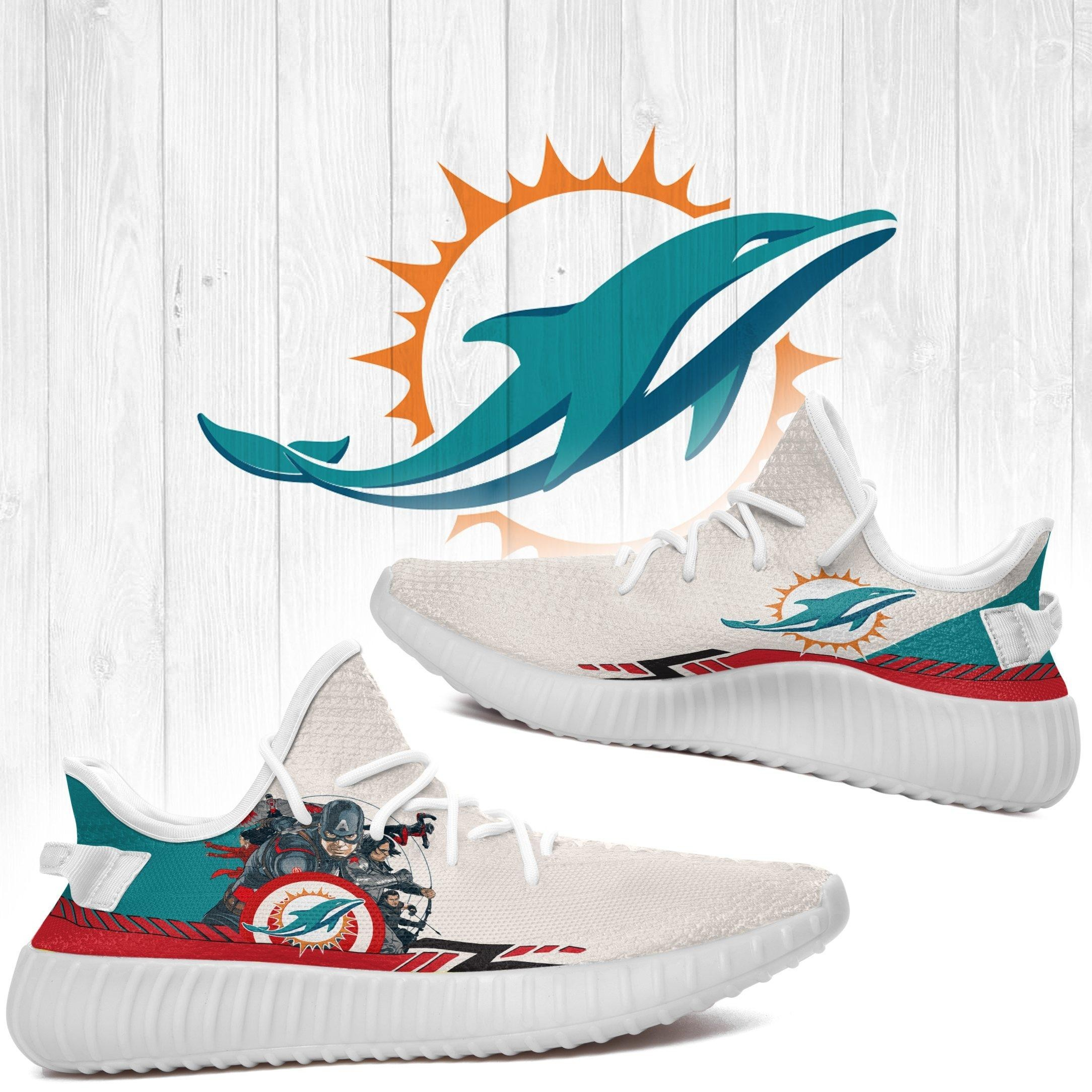 Superheroes-Miami Dolphins NFL Yeezy Boost 350 v2 Shoes Custom Yeezys Trends 2020