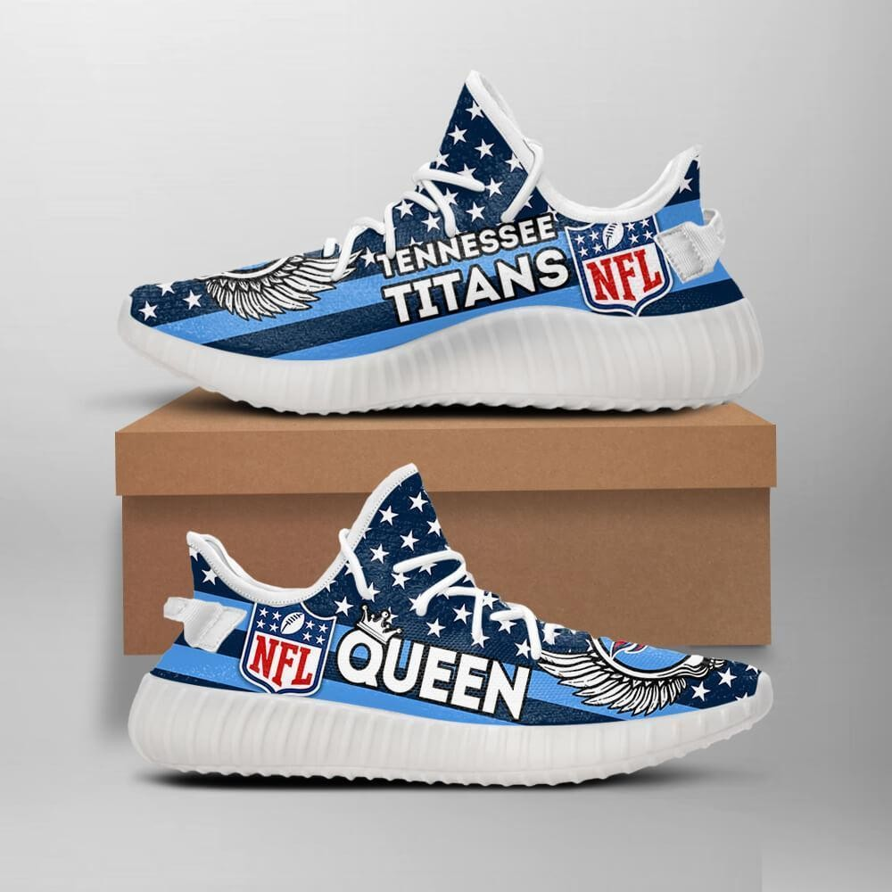 Tennessee Titans Queen Nfl Like Yeezy Titans Shoes Custom Yeezys Trends 2020